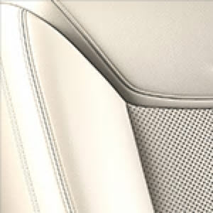 Cirrus Leather Seating Surfaces with Jet Black accents and Mini-Perforated Inserts